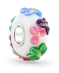 """Perles en verre de Murano Pandora Chamilia Beads Fit Biagi """" Printemps """""""