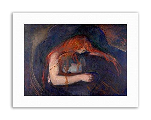 Wee Blue Coo LTD Edvard Munch Vampire 1895 Poster Painting Canvas Art Prints -