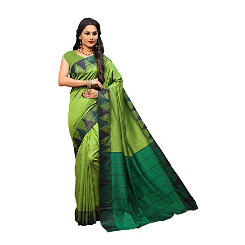 Craftsvilla Silk Saree With Blouse Piece (MCRAF71409204140_Green_Free Size)