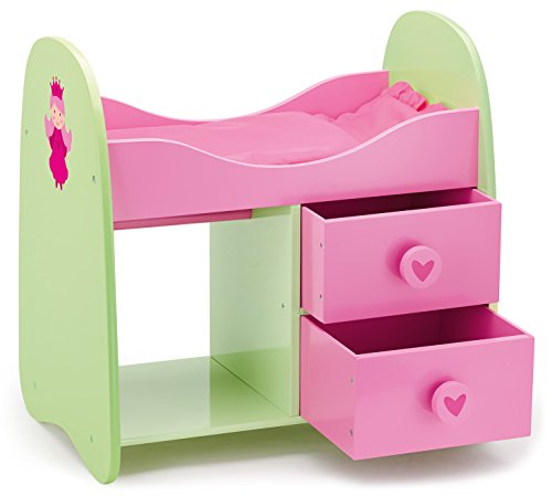 Bayer Dolls Bunk Bed Wooden Princess Design (Pink/ Green)