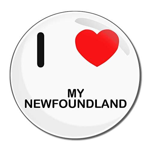 I Love My Newfoundland - Miroir compact rond de 55 mm