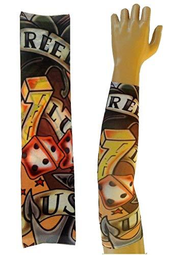 Inception pro infinite w06 - modello 22 - manicotto tattoo - indossabile - manica - tatuaggio finto - immagine - dadi - tatoo - mezza manica - tribale