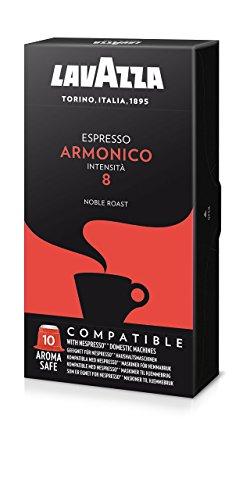 Lavazza Armonico Espresso, Cápsulas de Café, Compatible con las Cafeteras de Cápsulas Nespresso, 10 Cápsulas de Café
