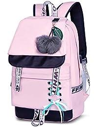 24c7bcfe73b1e JUND Damen Mode Schultasche Kawaii Druck Rucksack Mädchen Lässig  Wasserdicht Backpack…