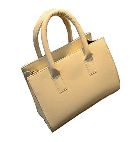 KUWOMINI.Women Bags All Seasons PU Tote Con Ruffles Rivetto Per Evento / Party Shopping Casual Sports Ufficio Formale Ufficio & Carriera Fucsia Blushing White