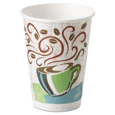 Hot Cups, Paper, 12 oz., Coffee Dreams Design, 500/Carton