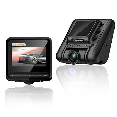 AZDOME Dash cam per auto - Super Visione Notturna Full HD 1080P e 2,45' Schermo IPS, Telecamera per auto con Registrazione in Loop, Monitor di parcheggio e Rilevazione di Movimento - M02