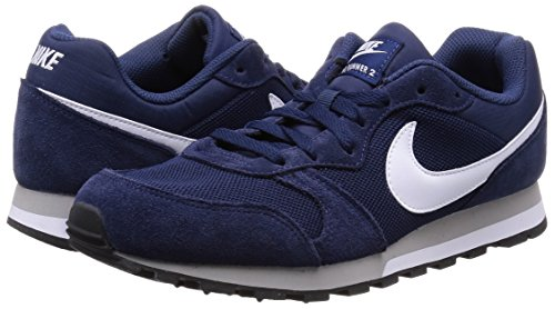 Nike MD Runner 2, Scarpe da Ginnastica Uomo, Blu (Midnight Navy/White-Wolf Grey), 44 EU