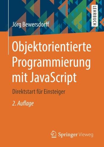 Objektorientierte Programmierung mit JavaScript: Direktstart für Einsteiger Buch-Cover