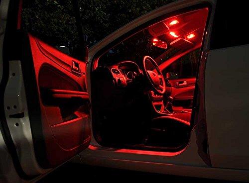 Preisvergleich Produktbild SkodaSuperb3T4 Rot Licht Innenraumbeleuchtung Set,  mit Check Widerstand,  Plug & Play Einbau,  Umrüstsatz von Jurmann Trade GmbH®