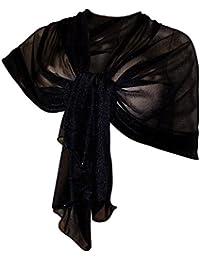 bc038e53f LTP Elegante SCIARPA Scialle Glitter Brillante Foulard,da Donna Ragazza  Coprispalle Stola Cerimonia in 14
