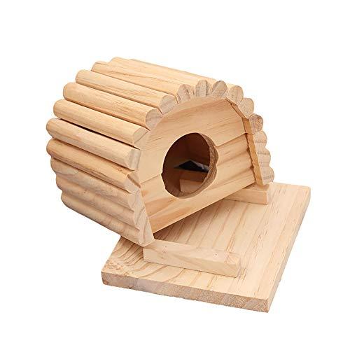 Bbl345dLlo Spielzeug für Kleintiere, runde Bögen, für Maus, Hamster, Holz, Nesthaus, Bett, Beißspielzeug -