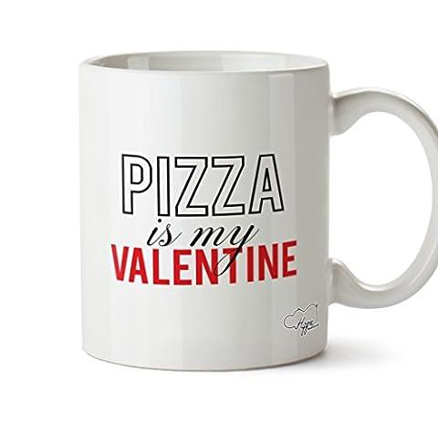 Hippowarehouse Mug Cake est My Valentine 283,5gram Tasse, Céramique, blanc, One Size (10oz)