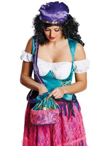 Rubie's Wahrsagerin Handtasche Orient Münzen blau-rosa - Lustig Wahrsagerin Kostüm