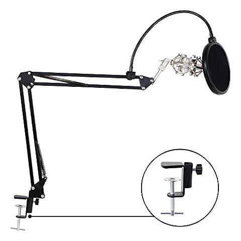 Bras De Suspension - TONOR Microphone réglable Suspension Ciseaux Bras Perche