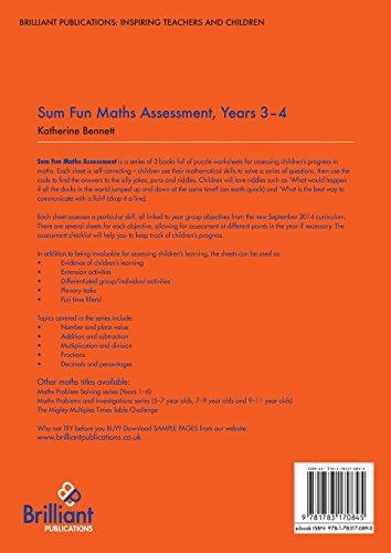 Sum Fun Maths Assessment: Years 3-4 Maths Assessment Puzzles for the 2014 Curriculum (Sum Fun Maths Assessment Sheet)