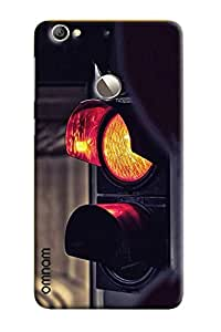 Omnam Traffic Signal With Red Light Indicating Designer Back Cover Case For LeTv Le 1s