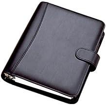 Collins DK2999 Chatsworth - Agenda con anillas de escritorio, año 2014 (cuero sintético, en inglés), color negro