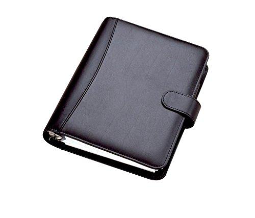Collins DK2999 Chatsworth - Agenda con anillas de escritorio, año 2018 (cuero sintético, en inglés), color negro