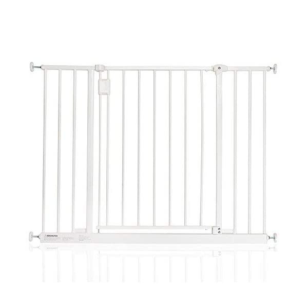 Safetots Extra Wide Hallway Gate, 97-103 cm, White Safetots Pressure fitted Width: 97cm - 103cm Height: 73cm 1
