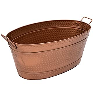Achla Designs C-55C Large Oval Steel Tub - Copper