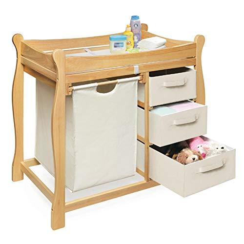 Tables à langer Table à langer enfants Unité de massage avec tiroirs, table à langer Dresser Rangement pour enfants Meubles (Couleur : Couleur du bois)