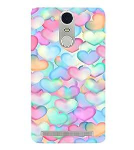 EPICCASE Colorful Hearts Mobile Back Case Cover For Lenovo K5 Note (Designer Case)