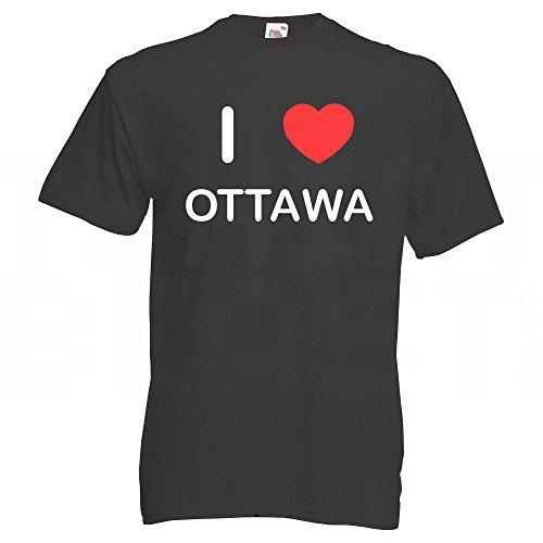 I Love Ottawa - T Shirt Schwarz