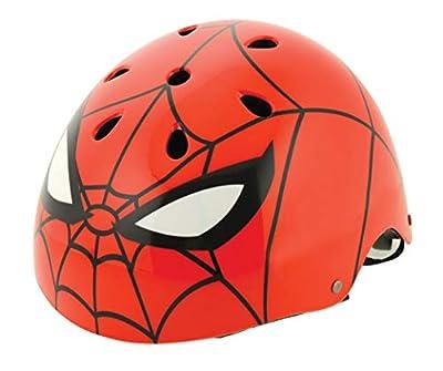Spiderman Boys Ramp Style Helmet Safety, red, 54-58cm by MV Sports & Leisure