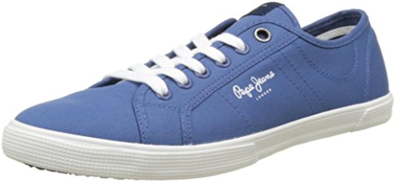 Pepe Jeans London Herren Aberman 2.1 Low Top  Blau Union Blue