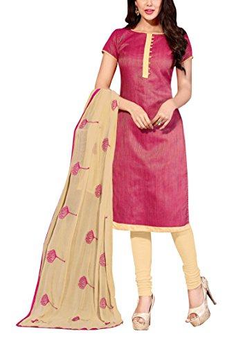 Nellai Sarees Women's Cotton Silk Unstitched Dress Material (Black)