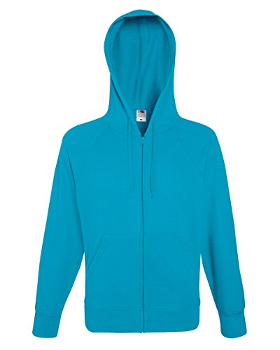 Fruit of the Loom Herren 's Lightweight Hooded Sweat Jkt Blau - Azurblau