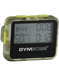 Gymboss Minuteur d'intervalle et chronomètre – COQUE VERT CAMOUFLAGE / JAUNE SOFTCOAT
