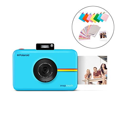 polaroid snap touch 2.0 - fotocamera digitale istantanea portatile da 13 mp, con bluetooth integrato, display lcd touchscreen, video 1080p, tecnologia zink zero ink e una nuova app, blu