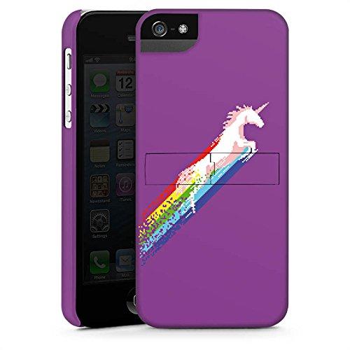 Apple iPhone X Silikon Hülle Case Schutzhülle Einhorn Unicorn Regenbogen Geschenk Premium Case StandUp