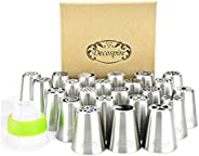 Complete Russian Piping Tips Set, Professional Cake Decorating Icing Tips