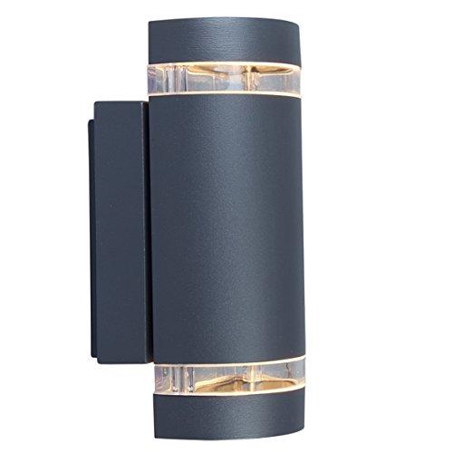 Eco Light Moderne Außenwandleuchte Focus Up- und Downlight, Fassung GU10, IP44 604...