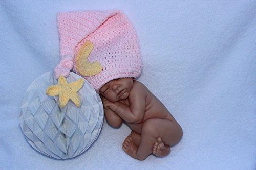 Kostüm Baby Mond - Baby-Outfit für Neugeborene, gehäkelt, ideal als Foto-Requisite, für Jungen und Mädchen geeignet (Baby-Mond)