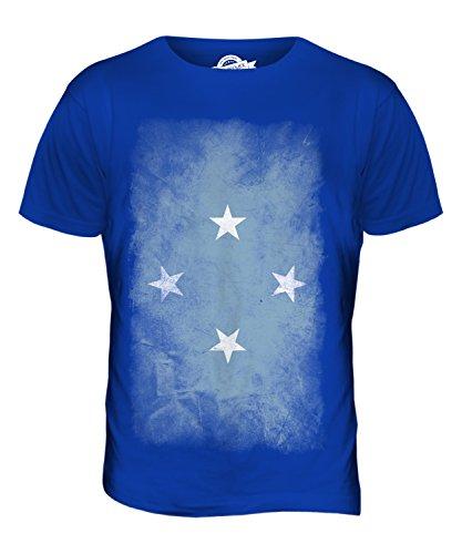 CandyMix Mikronesien Verblichen Flagge Herren T Shirt Königsblau