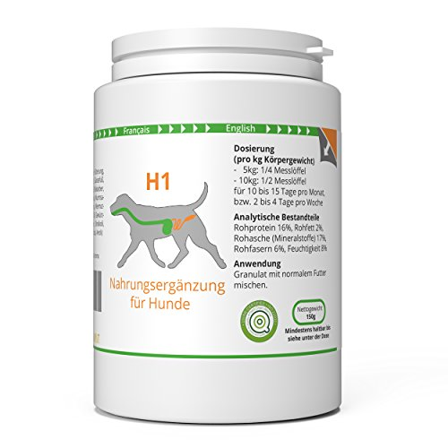 ww7 H1 Natürliche Wurm, Magen & Darm Formel für Hunde -150g