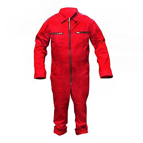Arbeitsoverall Arbeitskombie Arbeitsanzug Schutzanzug Overall Rallye Fasching - Rot Gr. 46-60 (Gruppe Kostüm Für Arbeit)