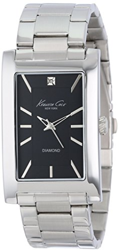 kenneth-cole-femme-acier-inoxydable-noir-cadran-rectangulaire-diamond-kc9284-reconditionne-certifie