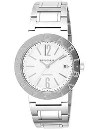8265c63edd5  Bulgari  Bvlgari reloj bb38wssd Auto Bulgari blanco hombres  paralelo  mercancías de importación