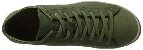 Softinos Damen Isleen Washed Hohe Sneaker Grün (Forest Green)