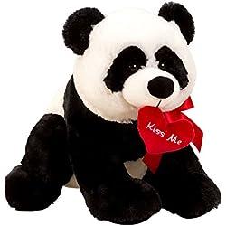 Lifestyle & More Oso Panda mimoso Oso de Felpa 39 cm Grande con Corazón Rojo Kiss ME