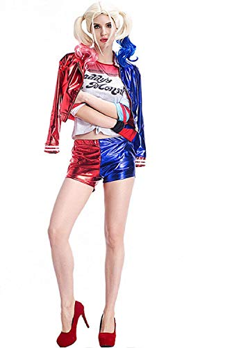 nn Cosplay Jacke Hose Shirt Suicide Squad kostüm Cosplay - Film Idea Geschenk -Hose Shirt,XXL ()