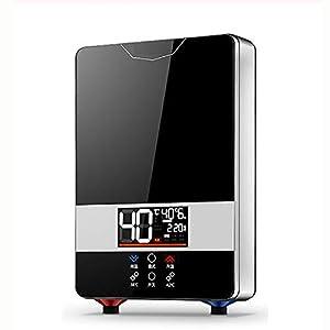 LCXNN 220V Calentador de Agua Eléctrico Instantáneo,Hogar Calentador Eléctrico de Agua Instantáneo,Inteligencia Digital Rápidotermostato Grifos