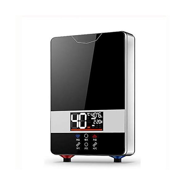 LCXNN 220V Calentador de Agua Eléctrico Instantáneo,Hogar Calentador Eléctrico de Agua Instantáneo,Inteligencia Digital…