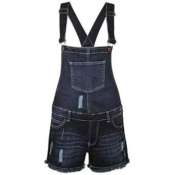 da36b7cfa61 SA Fashions® Ladies Acid Wash Denim Dungarees Playsuit Jumpsuit MINI Dress  Pinafore SHORT Jeans 8