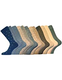 MENS Luxury Holiday Patterned Cotton Socks 12pk